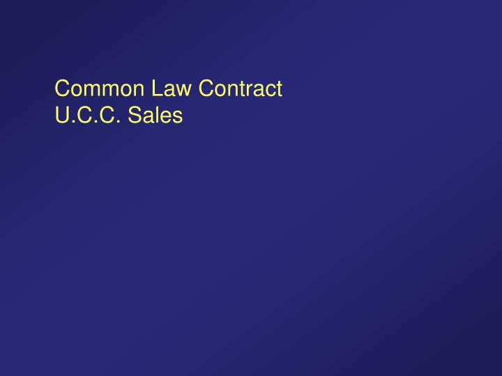 Common Law Contract