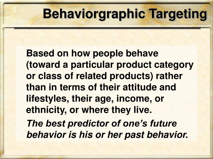 Behaviorgraphic Targeting