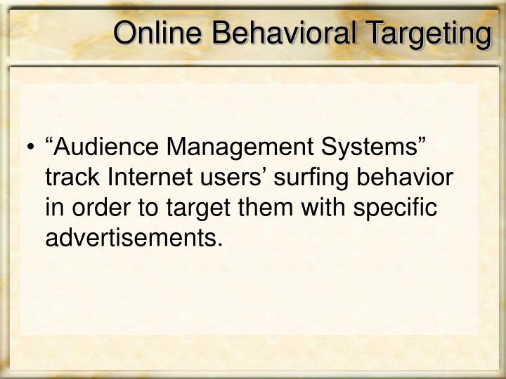 Online Behavioral Targeting