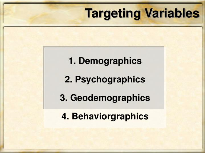 Targeting Variables