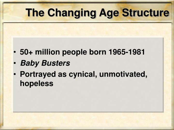 The Changing Age Structure