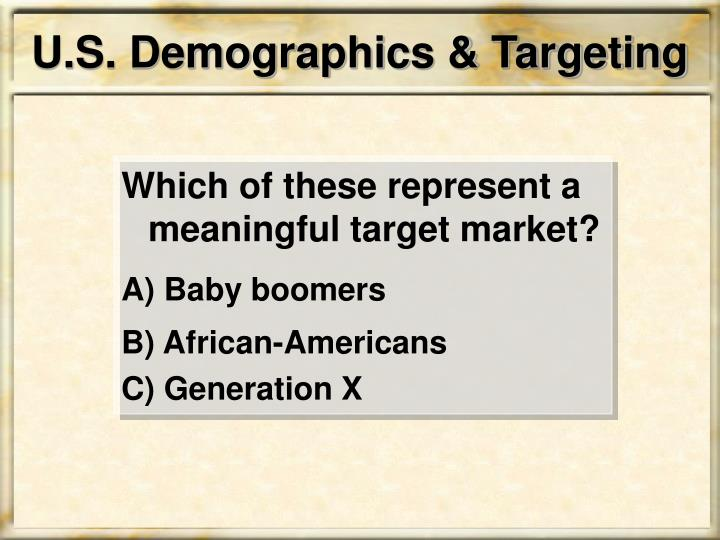 U.S. Demographics & Targeting