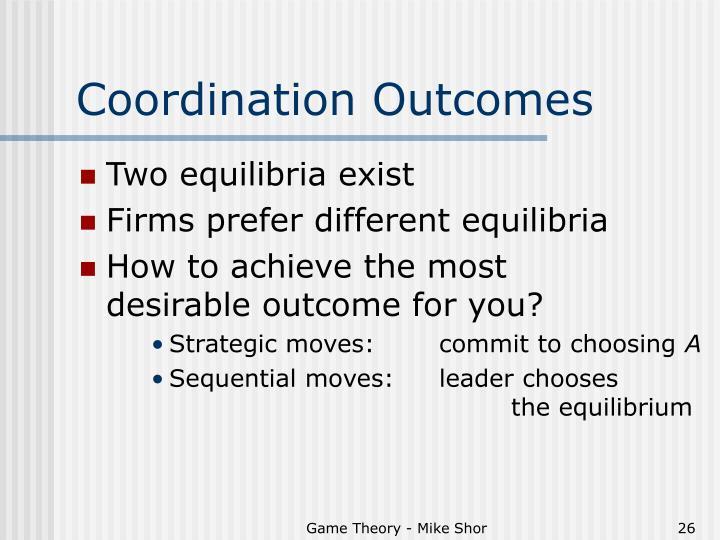 Coordination Outcomes