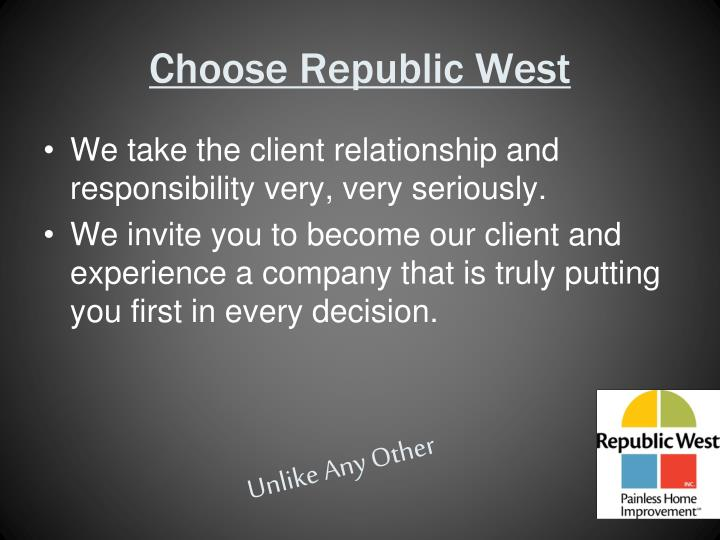 Choose Republic West