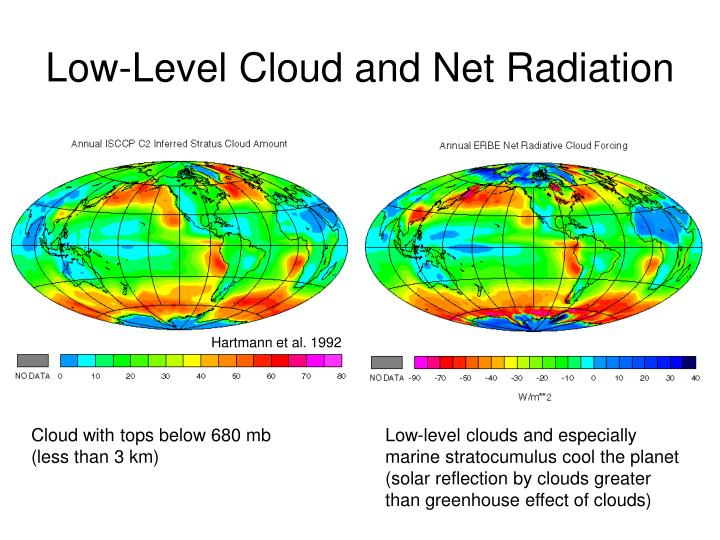 Low-Level Cloud and Net Radiation