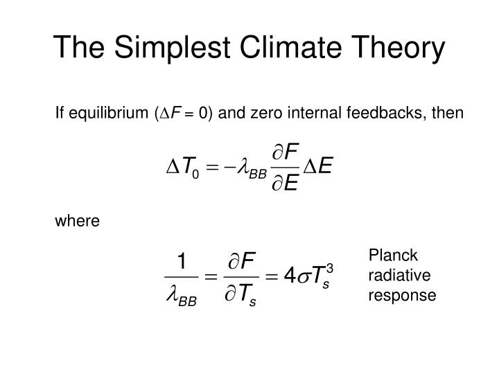 The Simplest Climate Theory