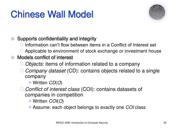 Chinese Wall Model