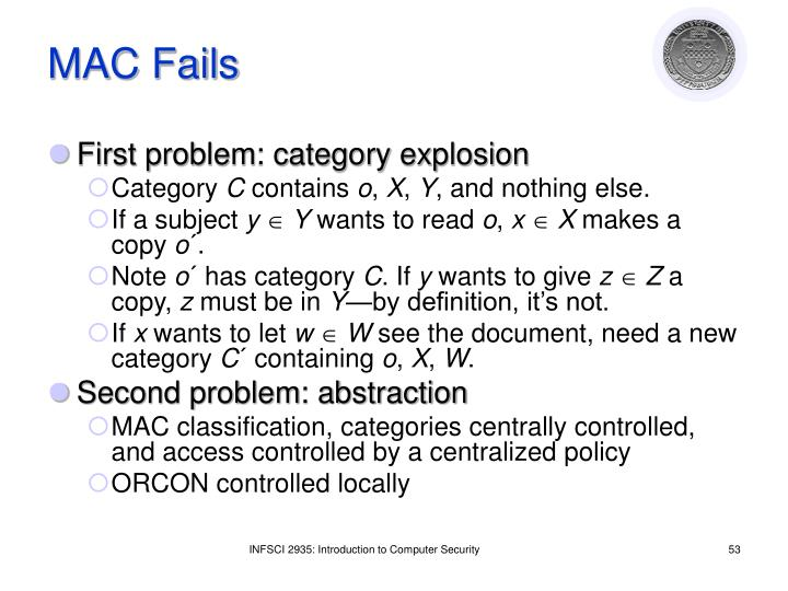 MAC Fails