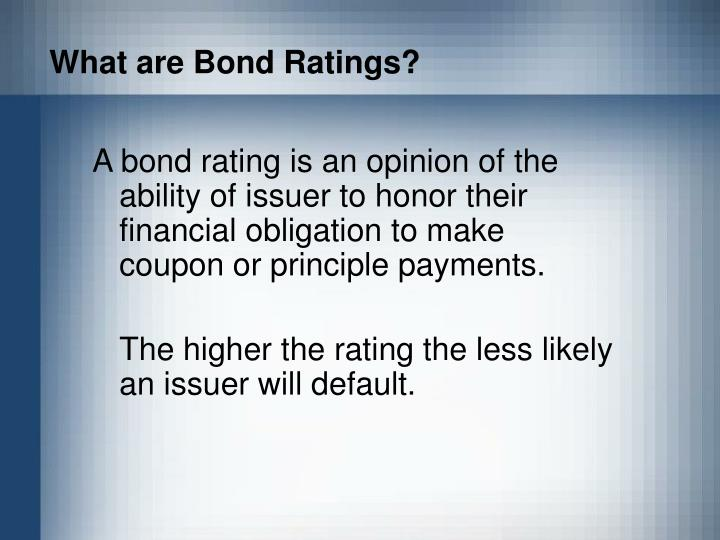 What are bond ratings