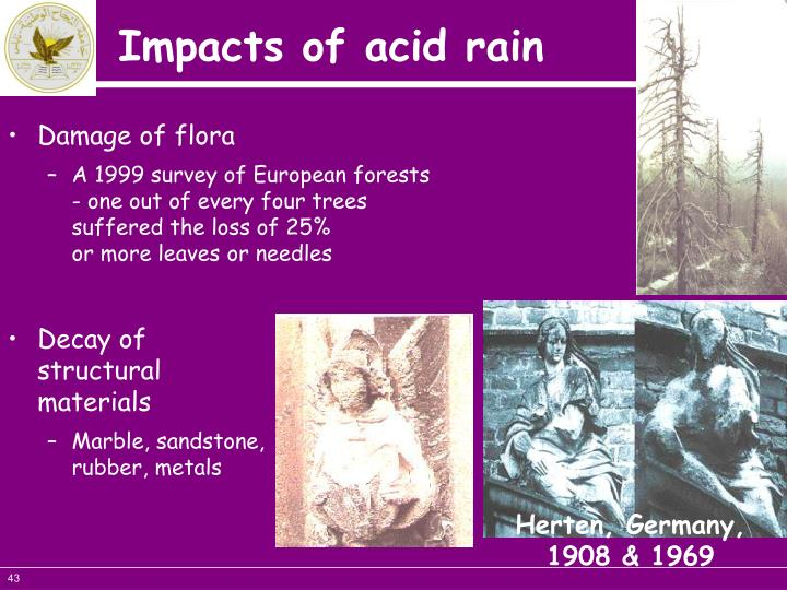 Damage of flora