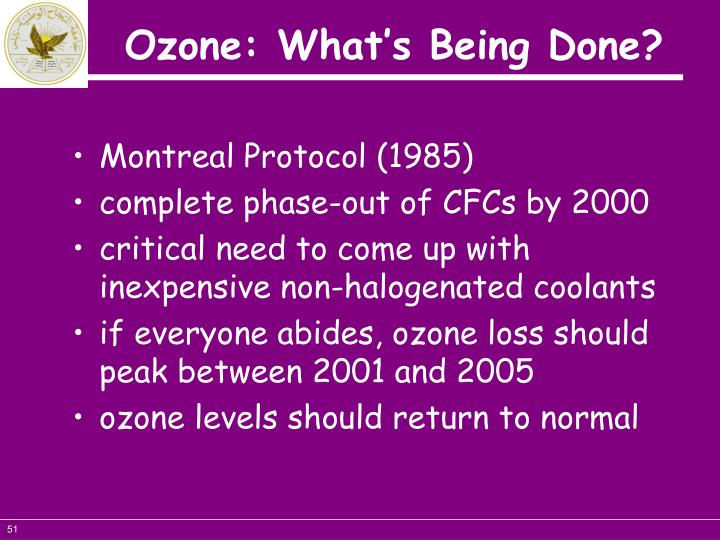 Ozone: What's Being Done?