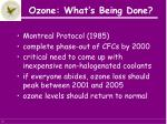ozone what s being done