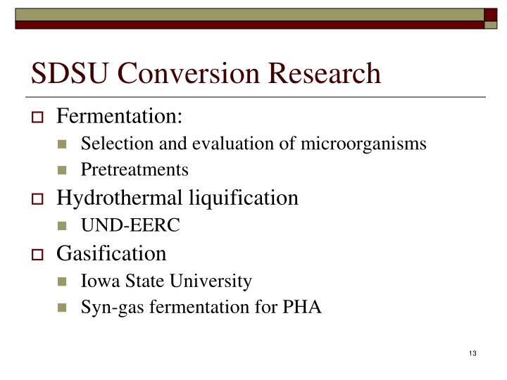 SDSU Conversion Research