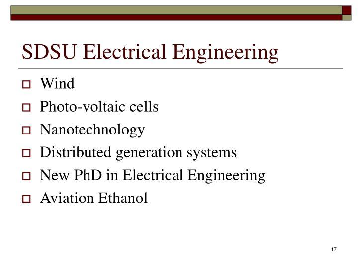 SDSU Electrical Engineering