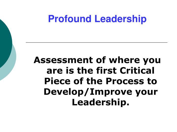 Profound Leadership