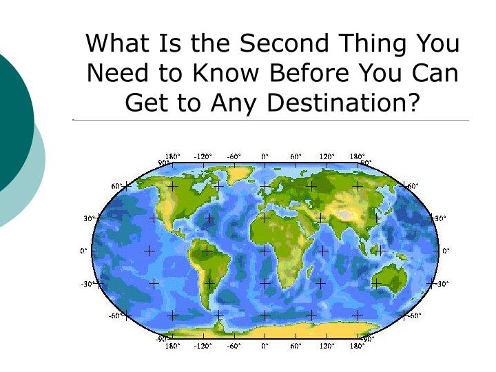 What Is the Second Thing You Need to Know Before You Can Get to Any Destination?