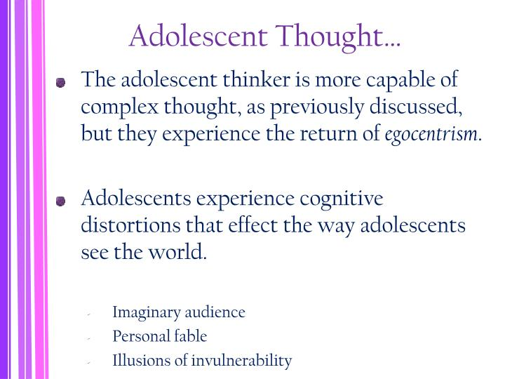 Adolescent Thought…