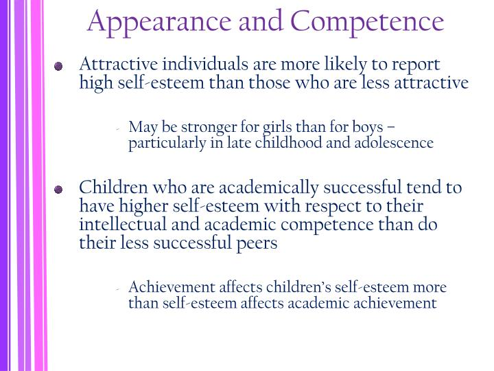 Appearance and Competence