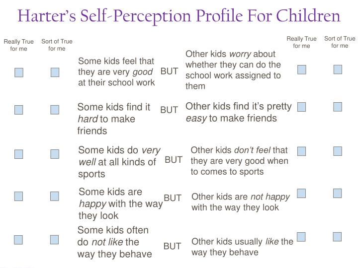 Harter's Self-Perception Profile For Children