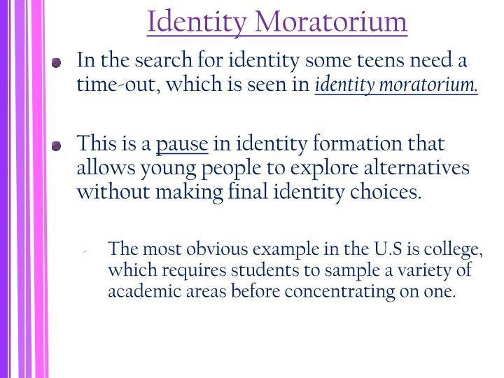 Identity Moratorium