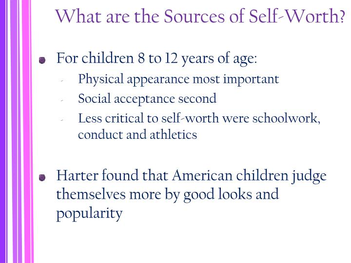 What are the Sources of Self-Worth?