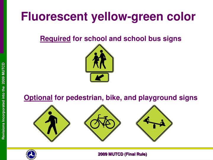 Fluorescent yellow-green color