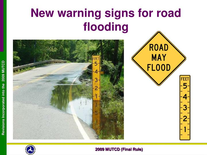 New warning signs for road flooding