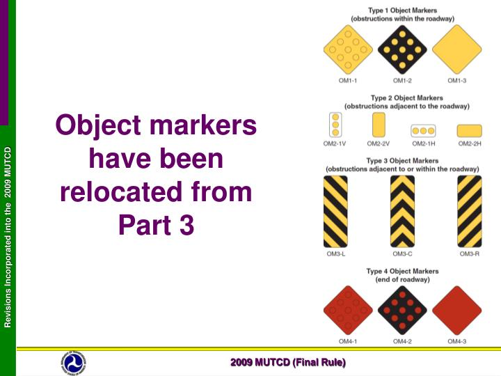 Object markers have been relocated from Part 3