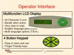 operator interface
