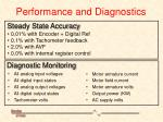 performance and diagnostics