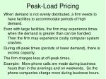 peak load pricing