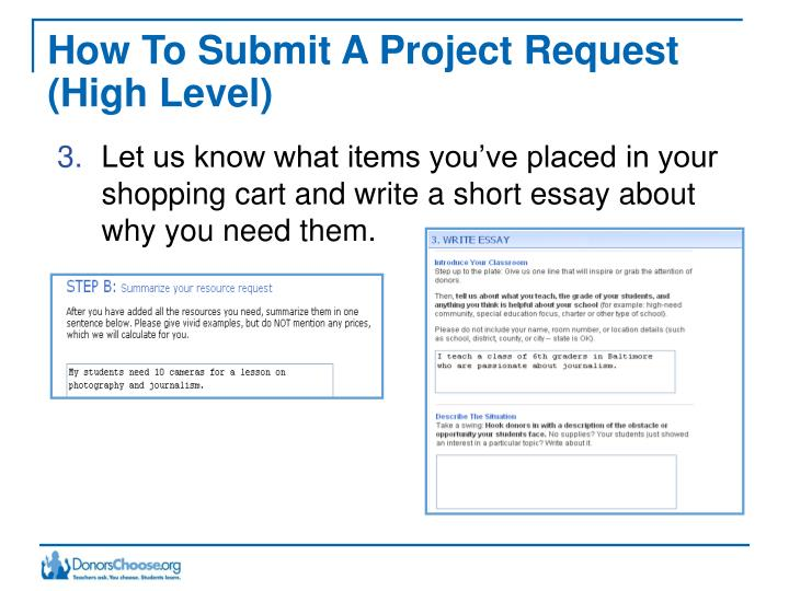 How To Submit A Project Request (High Level)