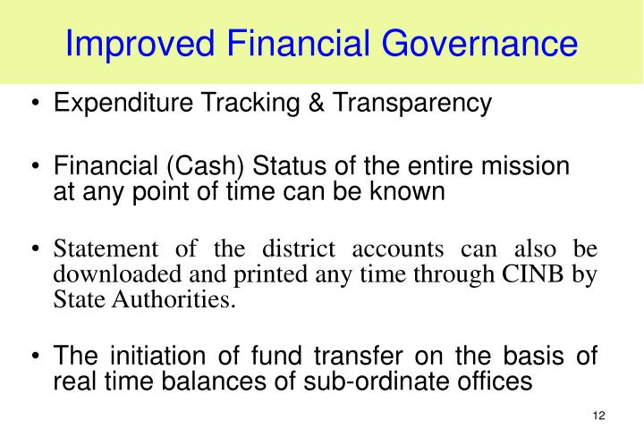 Improved Financial Governance