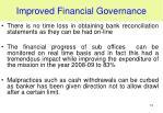 improved financial governance1