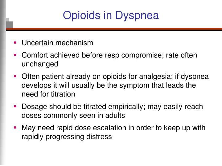 Opioids in Dyspnea