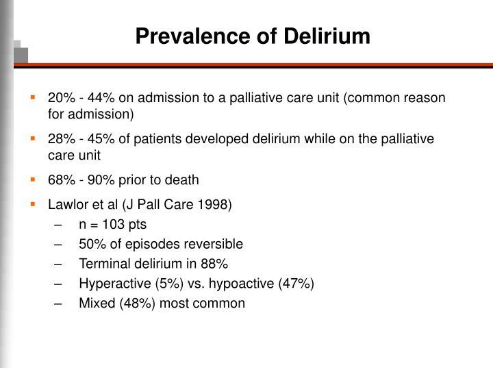 Prevalence of Delirium