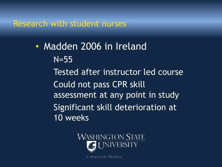 Research with student nurses