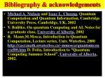 bibliography acknowledgements