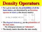 density operators