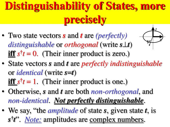 Distinguishability of States, more precisely