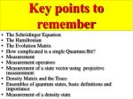 key points to remember1