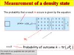 measurement of a density state1
