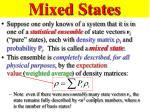 mixed states