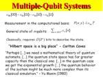 multiple qubit systems