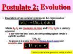 postulate 2 evolution1