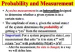 probability and measurement