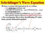 schr dinger s wave equation