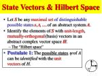 state vectors hilbert space