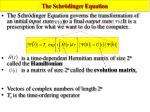 the schr dinger equation
