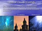 types of clouds cont d1